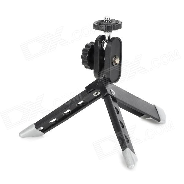 J-Z09 Portable Mini Camera Tripod Stand - Black + Antique Silver