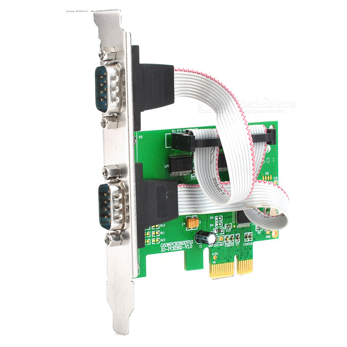 все цены на IOCREST IO-PCE382-2S PCI-Express to 2-Port Serial Expansion Card - Green онлайн