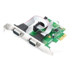 IOCREST PCI-Express to 2-Port Serial Expansion Card - Green
