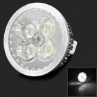 TOHDA TH-MR16-4 GX5.3 4W MR16 280lm 6500K 4 LED White Light Spotlight - Silver (12V)