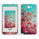 Azalea Pattern Protective Front + Back Skin Sticker Protector for Samsung N7100
