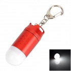 TrustFire L-02Z Missile Head Style LED White Flashlight Keychain - Red + White (1 x CR123A)