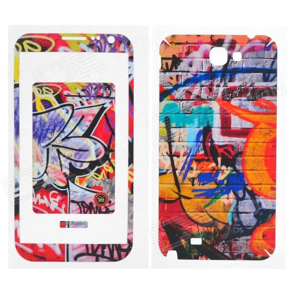 Protective Front + Back Skin Sticker Protector for Samsung N7100 2 pcs 1 pair colorskin sticker cool sword design led light skin decal for ps4 controllers led sticker for ps4 skin stickers