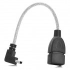 Mini 5-pin Male to USB 2.0 Female OTG Data Cable for Tablets - Black + Silver (15cm)