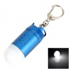 TrustFire L-02Z Missile Head Style LED White Flashlight Keychain - Blue + White (1 x CR123A)