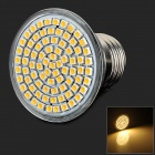 LeXing LX-033 E27 4W 300lm 3500K 80 SMD 3528 LED Warm White Light Spotlight - Silver