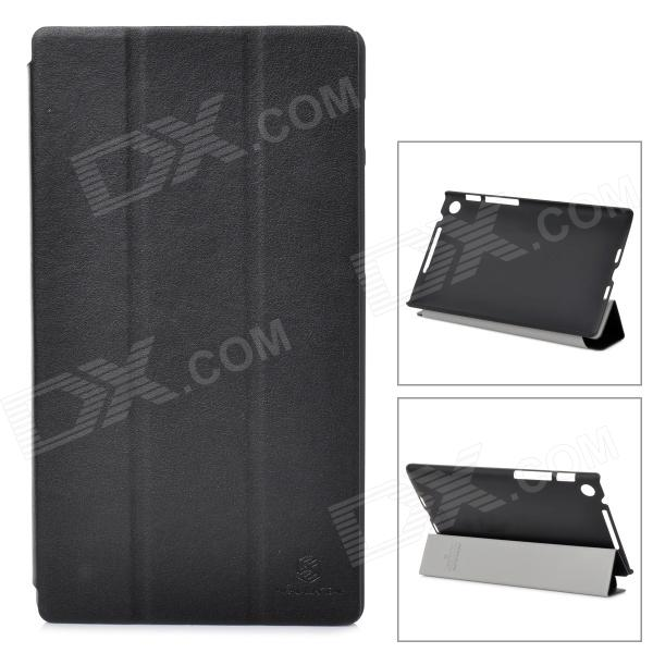 NILLKIN Protective Flip Open Case w/ Stand for Google Nexus 7 II - Black uag iphone8 4 7 дюйма падение сопротивления mobile shell чехол для apple iphone8 iphone7 ярого белый