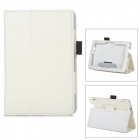 "Protective PU Leather Case w/ Stand for 7"" Tablet PC Amazon Kindle Fire HDX 7 - White"