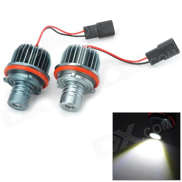E39 20W 117lm 7000K LED White Light Angel Eyes Lamps for BMW (12V / 2 PCS) new e39 rgbw ir remote control led marker angel eyes for bmw e87 e60 e61 e63 e64 e65 e66 e53 e83 x5 rgb color changing lighting
