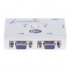 CKL-52A 2 Port Automatic KVM 250MHz Switch with Cable - White