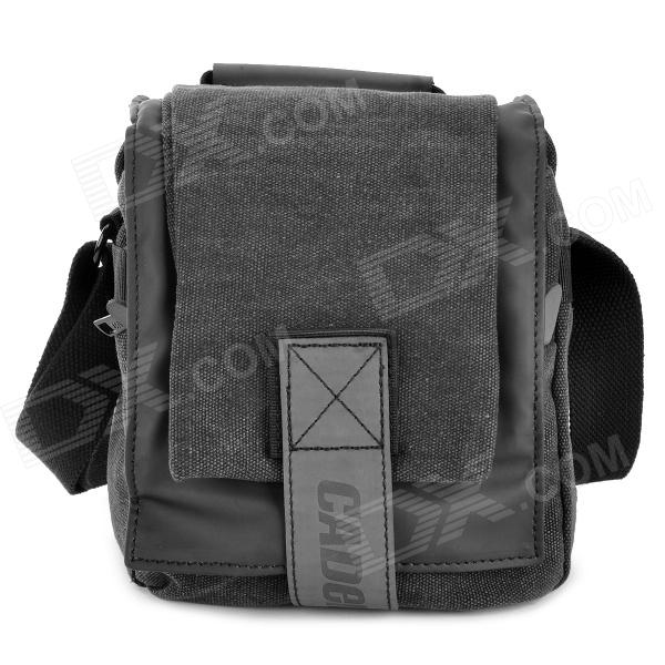 CADEN M1 Water Resistant Nylon One-Shoulder Camera Bag for Nikon / Canon SLR - Black