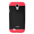 PhoneAdd Three-piece Candy Color Protective Case for Samsung Galaxy S4 i9500 - Black + Deep Pink
