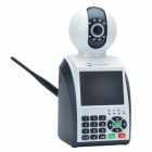 "Cheerlink 3.5"" Screen 0.3 MP Video Call Wi-Fi P2P Network Phone Camera w/ 7-IR LED - White + Black"