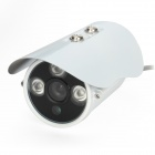 "HS-638TZHC 480TVL 6mm 1/3"" CCD Waterproof Surveillance Security Camera w/ 3-IR LED - White"