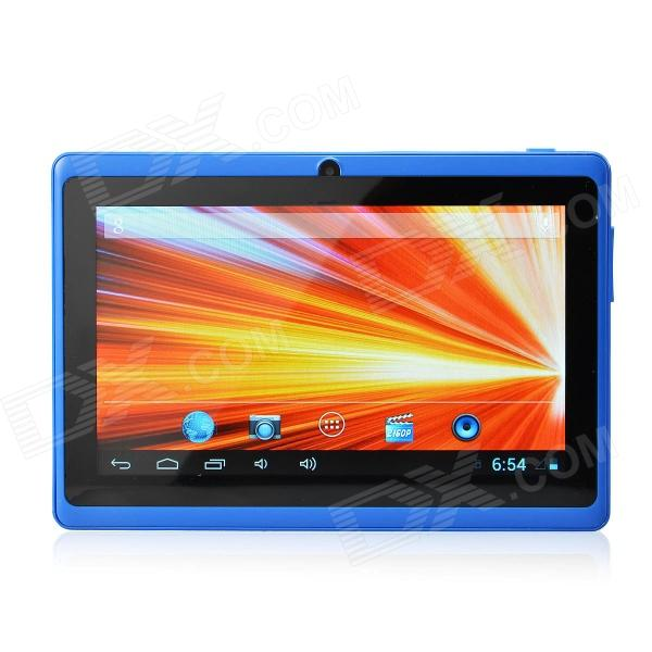 UBOX A7 7.0 Android 4.0 Tablet PC w/ 512MB RAM, 4GB ROM, Wi-Fi, TF - Blue + Black olut m3 7 0 android 4 1 tablet pc w 512mb ram 4gb rom wi fi tf white