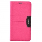 XUNDD Mango Series Plastic + PU Leather Case Cover Stand for Samsung Galaxy Note 3 N9000 - Deep Pink