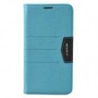 XUNDD Mango Series Plastic + PU Leather Case Cover Stand for Samsung Galaxy Note 3 N9000 -Light Blue