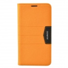 XUNDD Mango Series Plastic + PU Leather Case Cover Stand for Samsung Galaxy Note 3 N9000 - Orange