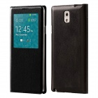 Protective PU Leather Case Cover w/ Visual Window / Auto-Sleep for Samsung Galaxy Note 3 N9000