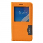 XUNDD Protective PU Leather Case Cover Stand w/ Visual Window for Samsung Galaxy Note 3 - Orange