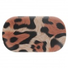Fashionable Leopard Print Style Contact Lens Case - Black + Brown