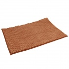 Anti-slip Water Absorption Soft Plush Bedroom Carpet Doormat - Brown (Size-L)