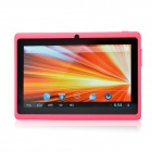 "UBOX A7 7.0"" Android 4.0 Tablet PC w/ 512MB RAM, 4GB ROM, Wi-Fi, TF - Deep Pink + Black"