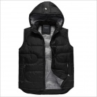 YH6649 Joker Handsome Men's Cotton Vest Coat - Black (Size-XXXL)