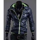 Mr.cc 1414-8002 Men's Quick-Drying Clothes Coat - Deep Blue + Green (Size-L)