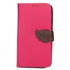 S-112 Protective Flip Cover PU Leather Case w/ Strap for Samsung Galaxy Note 3 N9000 - Deep Pink