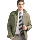 YH-1045 Fashionable Men's Stand Collar Leisure Coat - Khaki (Size-XL)