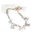 Euramerican Exaggerated Horses' Heads Style Zinc Alloy Women's Necklace - Antique Silver