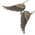 Fashionable Angel Wings Style Women's Sweater Necklace - Bronze