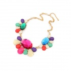 Euramerican Bohemian Fashionable Rhinestone Women's Necklace - Multicolored