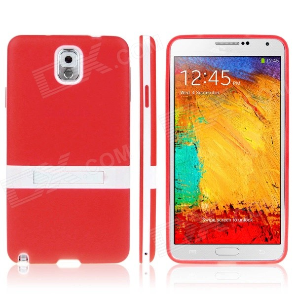ENKAY Protective TPU Back Case w / Holder Stand for Samsung Galaxy Note 3 / N9000 - Red enkay protective tpu back case w holder stand for samsung galaxy note 3 n9000 pink