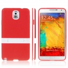 ENKAY Protective TPU Back Case w / Holder Stand for Samsung Galaxy Note 3 / N9000 - Red