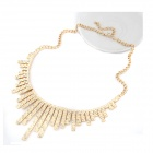 Euramerican Fashionable Metallic Dominate Long and Short Bars Zinc Alloy Women's Necklace - Golden