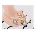 Euramerican Quietly Elegant Flowers Zinc Alloy Women's Necklace - Multicolored
