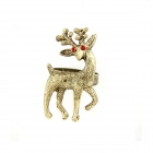 Fashionable Vintage Giraffe Pattern Zinc Alloy Ring - Bronze