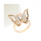 Fashionable Lovely OL Dominate Butterfly Style Women's Ring - Golden