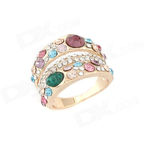 Fashionable Lovely OL Dominate Zinc Alloy Women's Ring - Multicolored