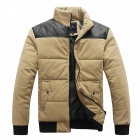 Fashionable Men's Cotton Jacket - Khaki (Size-XL)