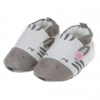 Cute Rabbit Comfortable Cotton Baby Shoes - Grey + White (6~9 Months / Pair)