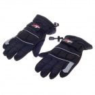 PRO-BIKER Stylish Waterproof Warm Full Finger Motorcycle Racing Gloves - Black+ Grey(Pair / Size-XL)