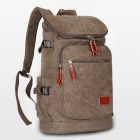 Fashionable Casual Canvas Backpack - Brown