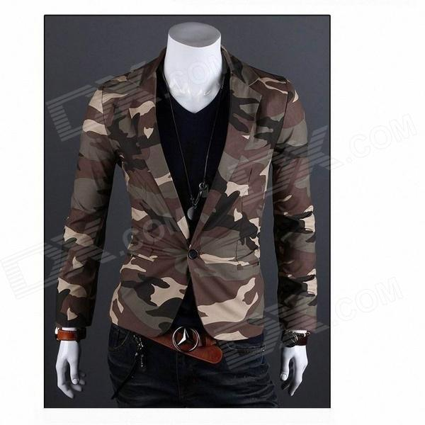 Monseden X09 Fashionable Men's Slim Fit Suit - CP Camouflage (Size-XXL)