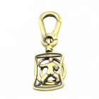 Chinese Kungfu Style Zinc Alloy Double Ring Keychain - Bronze