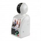"3.5"" Screen 0.3 MP Video Call Wi-Fi P2P Network Phone Camera w/ 7-IR LED - White"