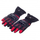 PRO-BIKER Stylish Waterproof Warm Full Finger Motorcycle Racing Gloves - Black + Red (Pair / Size-L)