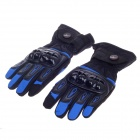 PRO-BIKER Stylish Waterproof Warm Full Finger Motorcycle Racing Gloves - Black + Blue(Pair / Size-M)